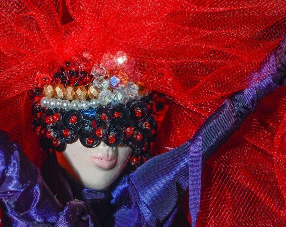 Spirit Doll- masquerade doll- Spirit  Dolls Handmade - Housewarming Gift  - Moving Away Gift - Gift for Her - Housewarming Dolls- Art Dolls