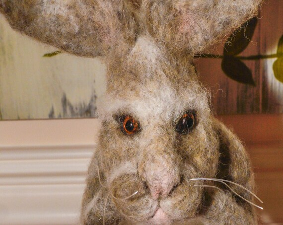 Rabbit,Bunny Rabbit, Rabbit,Needle felting ,Hare,Bunny,Bunny rabbit,Felted Bunny,Felted Wool Animal,Art Doll,Handmade,Felted Hare,rabbit