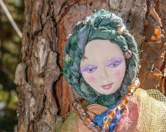 Goddess Love Spiritual Doll- Spirit Witch  Doll - Handmade Spirit Doll- Healing Alter Doll - Kitchen Witch Dolls- Housewarming Gift for Her