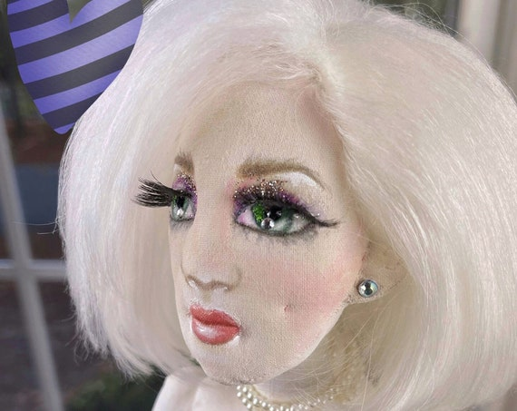 Taffeta Darling Doll,OOAK Cloth Jointed Doll,Poseable Art Doll,OOAK Doll,Home Decor Doll,OOAK Art Doll Fine Art Doll Boudoir,Gift for mom,