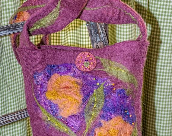 Crossbody purse,Felted purse, shoulder bag,ToteBag,Felted Bag,Wool Bag,Purse,Purse,Wool Bag,Handmade Bag,Handmade Purse,Hand Bag,