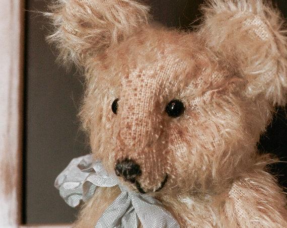 Teddy bear,mohair,OOAK,collectible toy bear,Teddy, nursery gift,nursery decor, Vintage,Handmade,Mohair,nursery art, OOAK,Teddy, Bear, Gift,
