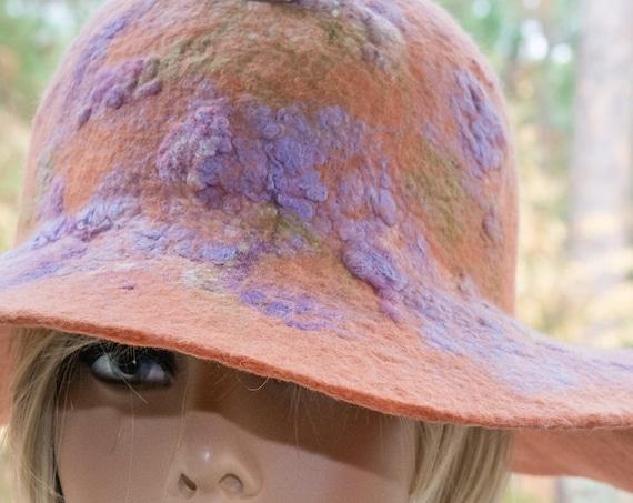felt hat, large brim hat, black hat, gift,floppy hat, boho hat, felt hat,warm hat, wool hat, gift for sister,gift for her, personalized gift