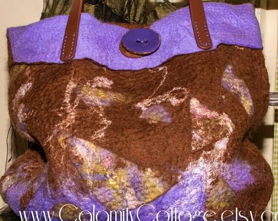 Felted purse, shoulder bag,ToteBag,Felted Bag,Wool Bag,Purse,Purse,Wool Purse,Handmade Bag,Handmade Purse,Hand Bag,Boho Bag,Wool Purse,Felt