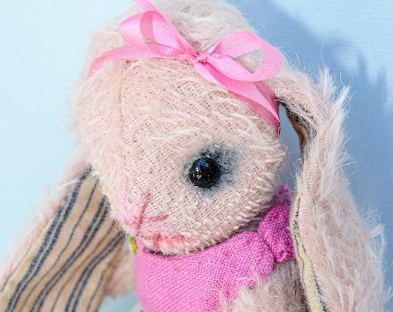 Hare,Bunny Rabbit,Rabbit,Teddy bunny ,Hare Gift,Hares,Mohair Rabbit,Nursery Gift, Teddy Bear,Handmade,Stuffed Animal,art doll