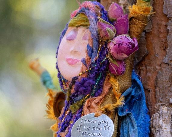Goddess Love Spiritual Doll,Spirit Witch  Doll ,Handmade Spirit Doll,Healing Alter Doll, Kitchen Witch Dolls, Housewarming Gift for Her