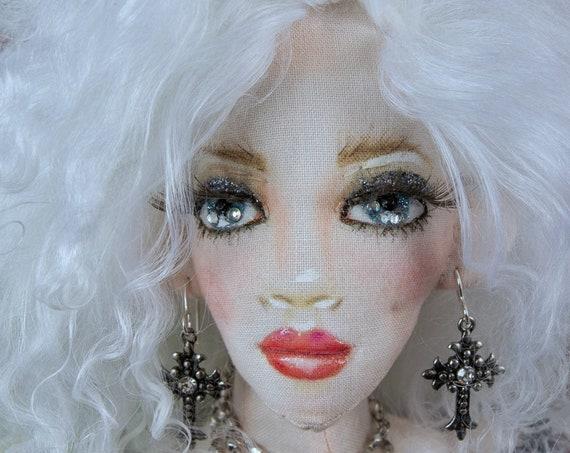 Martin Gothic Art Doll,OOAK Cloth Jointed Doll,Poseable Art Doll,OOAK Doll,Home Decor Doll,OOAK Art Doll Fine Art Doll Boudoir,Gift for mom,