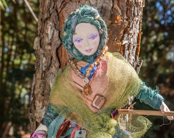 Art Doll,Art,Dolls,WalArt, Doll,Boho, Witch,Kitchen Decor,Wall Decor,Home Decor,Personalized Gift,Home,Doll,Bathroom,Farmhouse Decor,kitchen