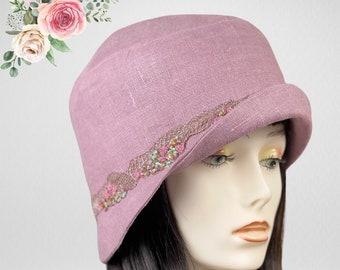 Cloche Hat ,1920's Fashion, Cloche Hats, Gatsby Hat ,Custom Hat, Ladies Cloche Hat, 1920's Headware ,Ladies Cloche Hat ,1920's Hat