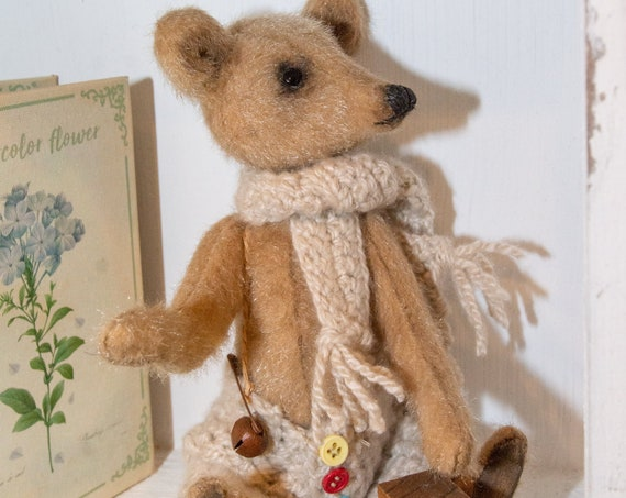 Teddy Bear ,Art ,nursery, Boho, Gift, Decor,Wall Decor,Home Decor,Personalized Gift,Home,Doll,Bathroom,Farmhouse Decor, kitchen, decor ,wool