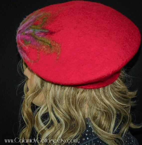 Felted Beret, Beret ,Bohemian,Merino Wool, Beret ,Wool Hat, Slouchy Beret, Wool Beret, Beret,Felt Beret,Felted Hat,Hat,Felt Hat, felted wool