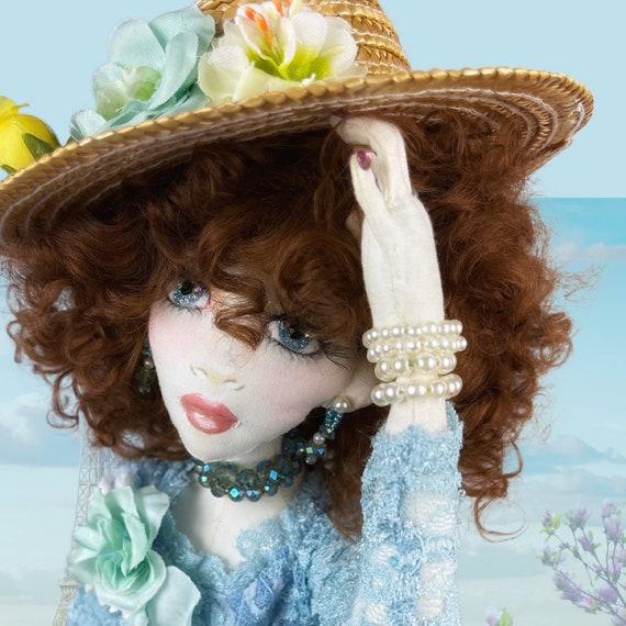 Parisian Girl Doll,OOAK Cloth Jointed Doll,Poseable Art Doll,OOAK Doll,Home Decor Doll,OOAK Art Doll Fine Art Doll Boudoir,Gift for mom,