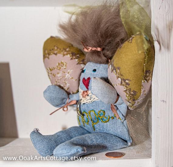 Fabric Doll /Art  Doll / Cloth Art Doll /Ooak Art Doll/ Mythical Doll / Fabric Art Doll / Doll / FREE shipping in USA/Handmade Doll/Handmade