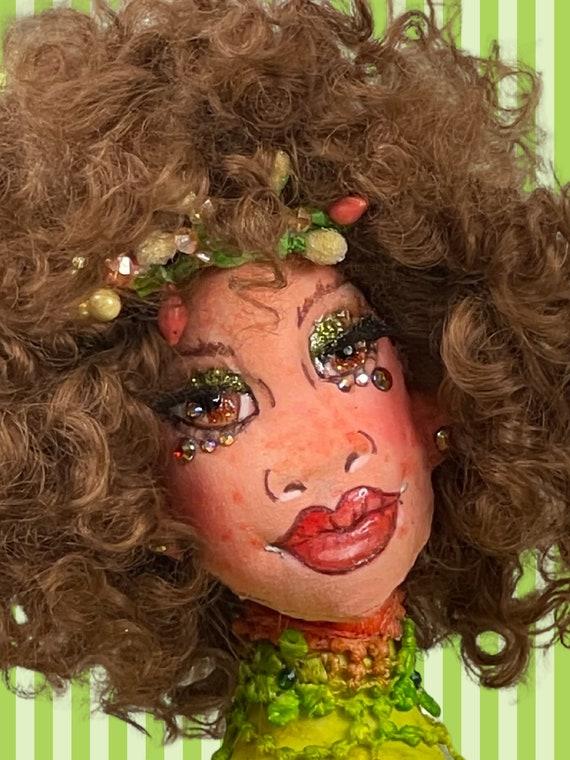 Roxy the Pixie Doll,OOAK Cloth Jointed Doll,Poseable Art Doll,OOAK Doll,Home Decor Doll,OOAK Art Doll Fine Art Doll Boudoir,Gift for mom