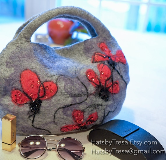Felted purse, shoulder bag,ToteBag,Felted Bag,Wool Bag,Purse,Wool Bag,Handmade Bag,Handmade Purse,Hand Bag, felt Bag,Wool Purse,Felted