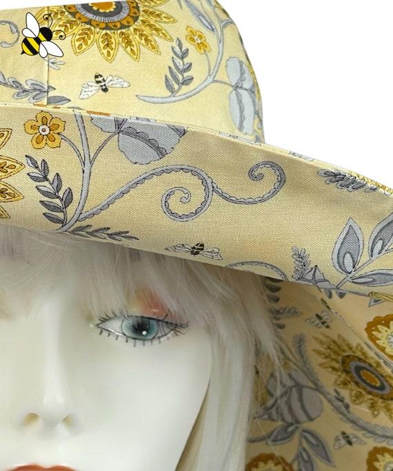 Wide Brimmed Sun Hat,1920s Style Headware, Boho Style Hat, Woman's Fashion,Ladies Hats,Garden  Hat,Bespoke Hat,Garden theme hat,floppy hat