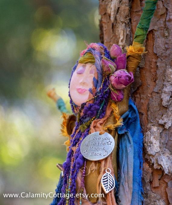 Doll ,Spring Goddess, Protector, Equinox Moon, Earth Mother Doll, Moonstruck Doll, Moon Goddess, Art Doll, Spirit Doll, Spiritual Peaceful