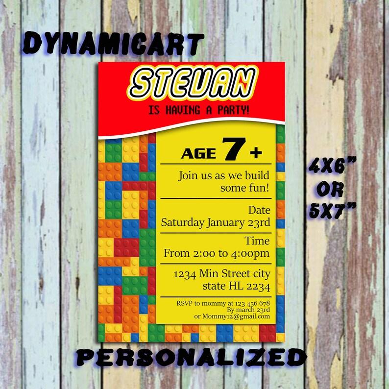 Lego Invitation Birthday Party