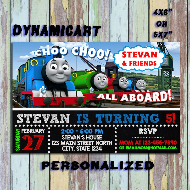 Thomas Train Invitation Birthday