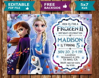 Frozen 2 Invitation Etsy