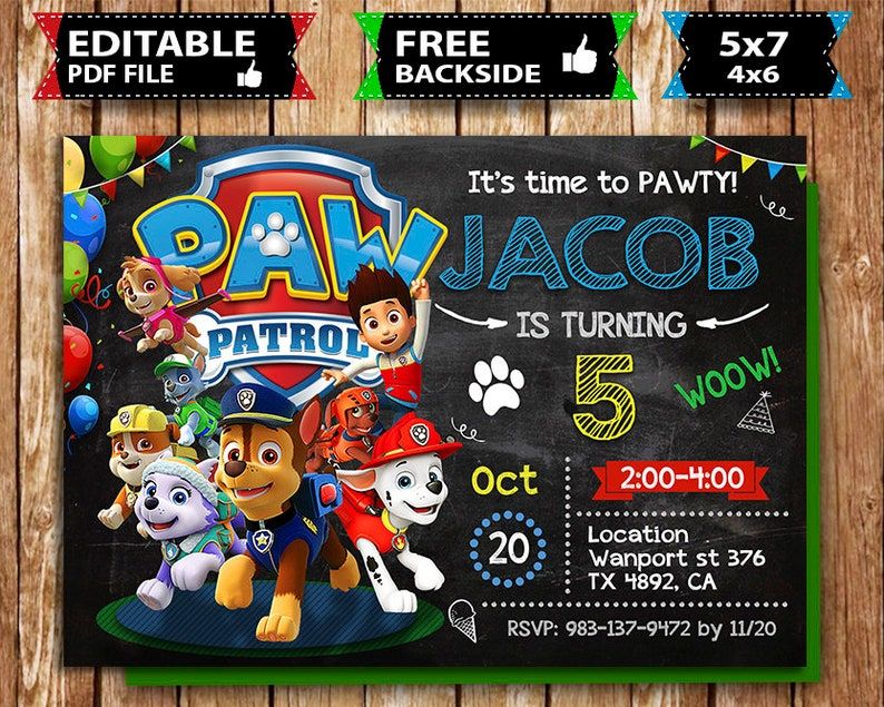 picture about Free Printable Paw Patrol Invitations known as Paw Patrol Invitation, Paw Patrol Birthday, Paw Patrol Invite, Paw Patrol Social gathering, Paw Patrol Printable, Paw Patrol Electronic