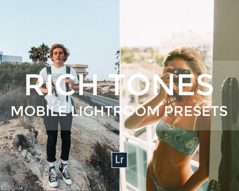 5 MOBILE Lightroom Preset Pack RICH TONES Instagram Travel Bright Wide  Blogger Vintage Film Camera Lightroom Presets