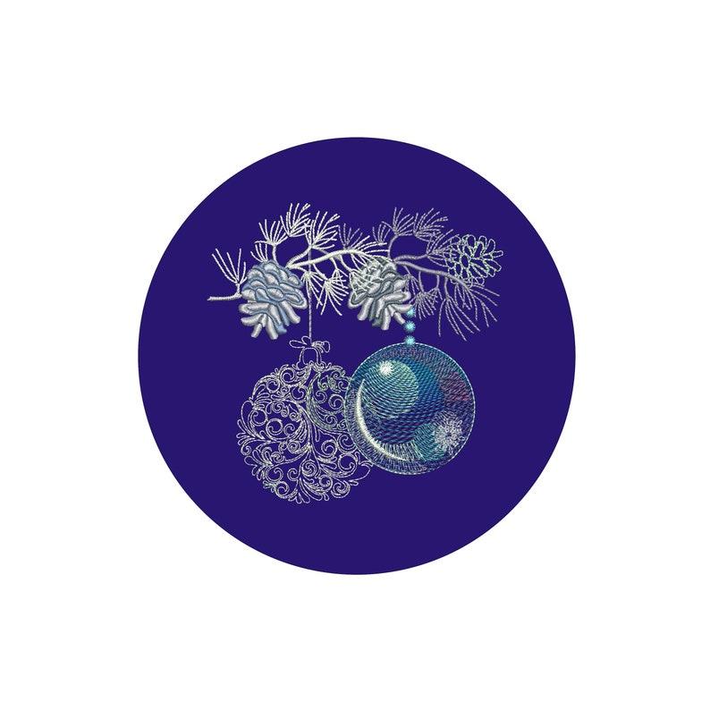 Machine embroidery design Christmas balls image 0