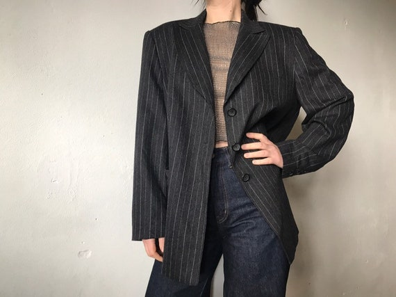 Women's Woolen Jacket Gray Oversize L XL Gerry Web