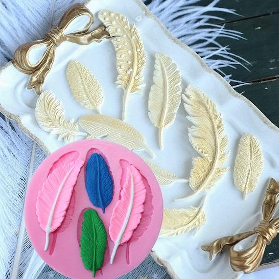 Sugarcraft Silicone Molds Sugarpaste Fondant Flower Mould Chocolate Mold Feather