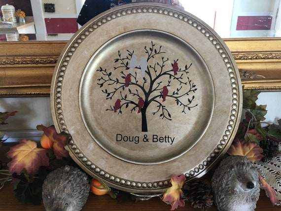 Customizable Decorative Charger Plate With Stand
