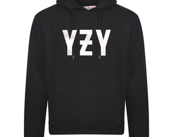 914d903dc81be YZY Size Logo Hoodie Kanye west Inspired design Hip Hop Unisex pullover