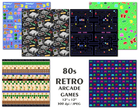 "Get Nerdy 80/'s Pixel Retro Nerd Kids Birthday Party 9/"" Paper Dinner Plates"