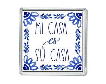 Iman - Mi casa es su casa - Mexican art - Magnets