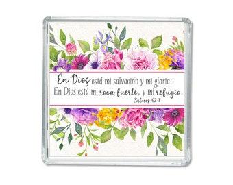 Spanish magnet -Psalms 62:7 - Encouraging gift.