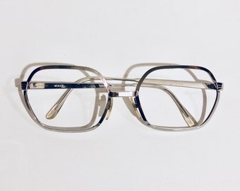 de83f689da71 Vintage Vogue Silver Hexagon Eyeglasses
