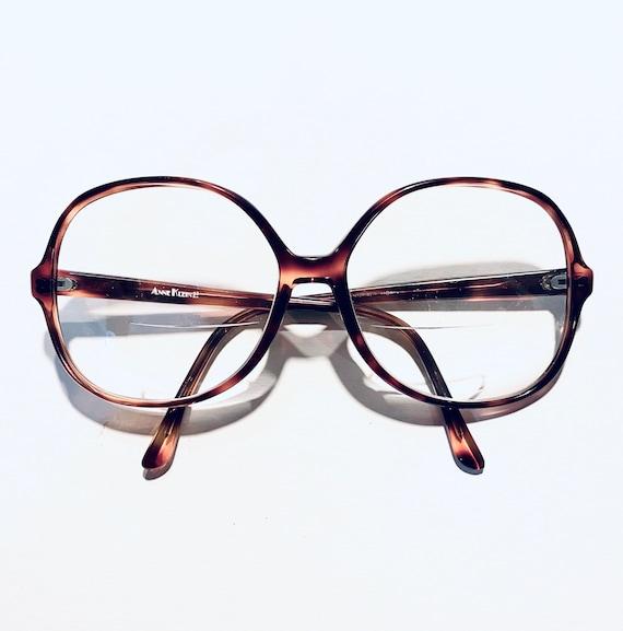 Vintage 80s Anne Klein Oversized Round Eyeglasses