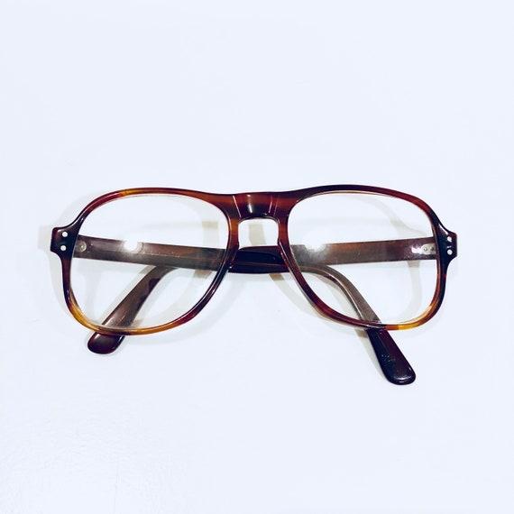 Vintage Oversized Brown Horn Eyeglasses