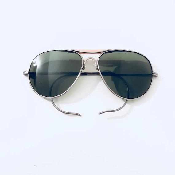 Vintage 80s Aviator Shooting Sunglasses
