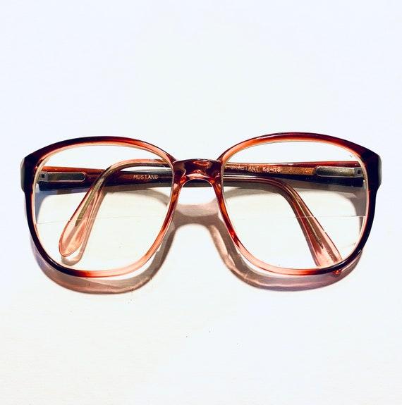 Vintage 80s Mustang Oversized Square Eyeglasses
