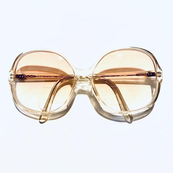 Vintage 80s Oleg Cassini Oversized Round Eyeglasse