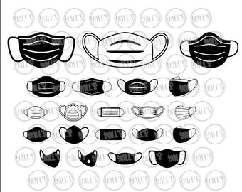 Face Mask Svg Etsy