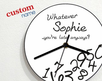 Funny Quote Clock Etsy