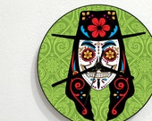 Sugarskull Guy Fawkes - V for Vendetta - Day Of The Dead - Dia De Los Muertos - Mexican Carnival Holiday - Novelty Gift - Custom Wall Clock