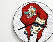 Sugarskull Calavera Catrina - Day Of The Dead - Dia De Los Muertos - Mexican Carnival Holiday - Novelty Gift - Custom Acrylic Wall Clock
