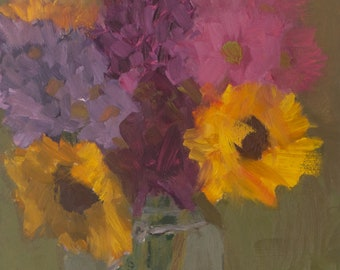 Winter Bouquet, Original Oil Painting