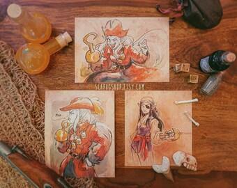 Small Prints - Pirate! Eda + Lilith