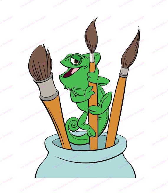 Pascal With Paintbrush Tangled Svg Svg Dxf Cricut Etsy