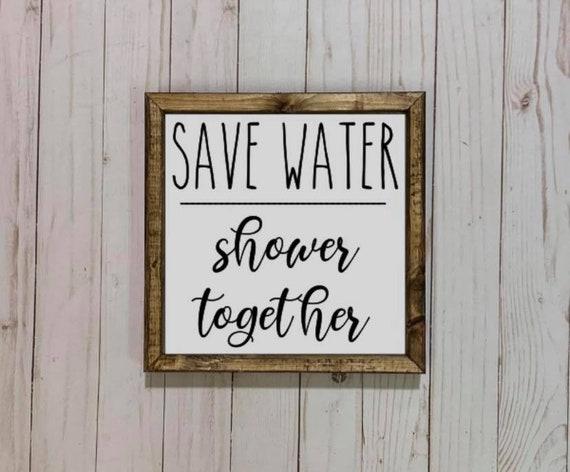 Shower Wood Sign Rustic Bathroom Sign Bathroom wall art