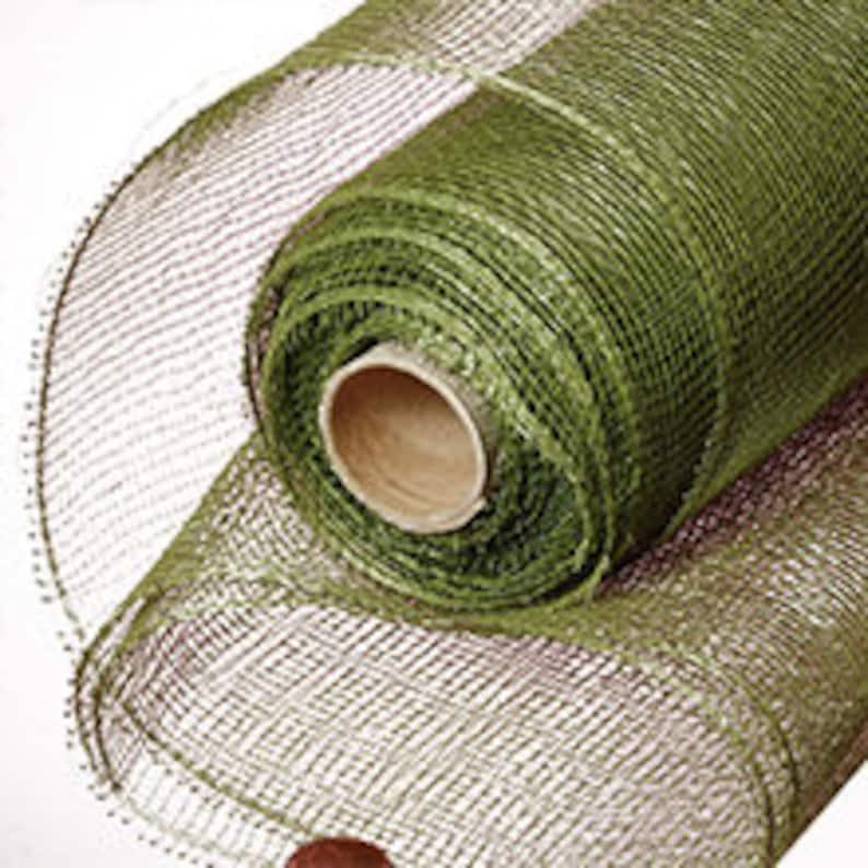 Olive Green Standard 10 Deco Mesh