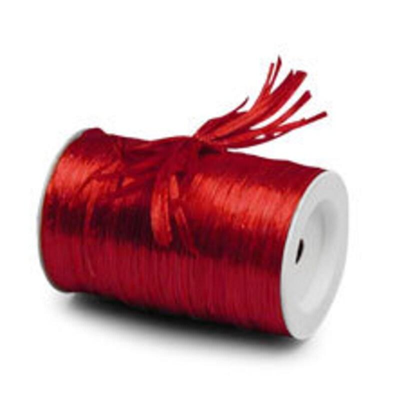 Copper Metallic Raffia Ribbon 1//4 X 100 Yards